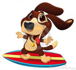 Surfer clipart dog