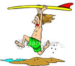 Surfer clipart funny