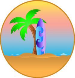Shore clipart palm tree beach