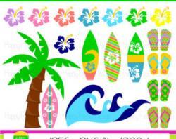 Sandal clipart surfer