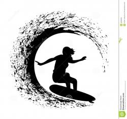 Surfing clipart surf wave