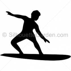 Surfer clipart silhouette