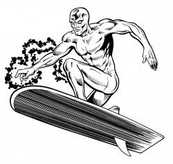 Surfer clipart silver surfer