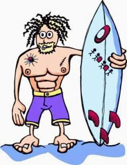 Surfer clipart stereotype
