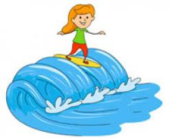 Surfing clipart serf