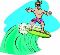 Surfer clipart surfer dude