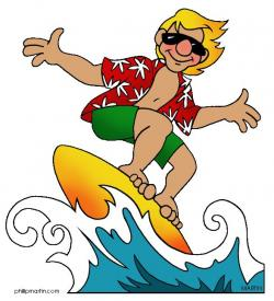 Surfing clipart california