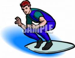 Surfing clipart wetsuit