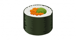 Drawn sushi sushi roll