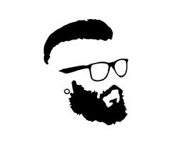 Drawn glasses silhouette
