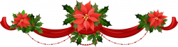 Poinsettia clipart christmas garland