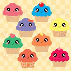 Toast clipart cute cupcake