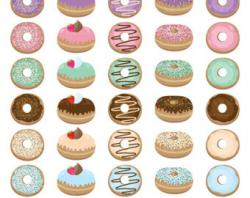 Sweets clipart glazed donut