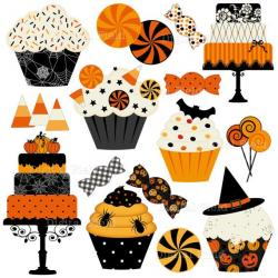 Vampire clipart halloween cupcake