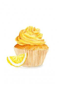 Sweets clipart lemon cupcake