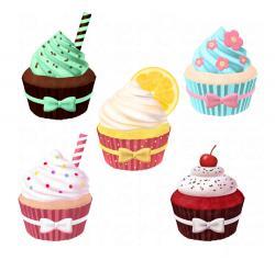 Vanilla Cupcake clipart fancy cupcake