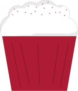 Icing clipart red cupcake