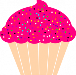 Frosting clipart cupcake sprinkle