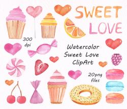 Sweets clipart watercolour