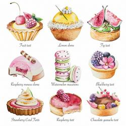 Tart clipart gourmet food
