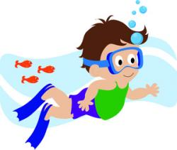 The Sea clipart swimming
