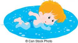 Little Boy clipart swimming