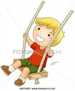 Swing clipart boy on