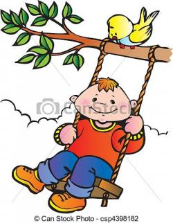 Swing clipart childhood