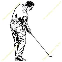 Swing clipart golfer