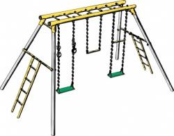 Swing clipart jungle gym