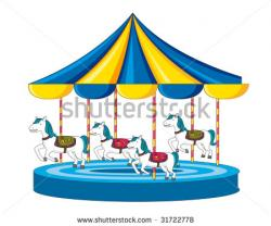 Carousel clipart merry go round