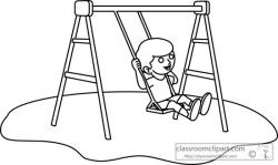 Swing clipart outline