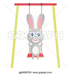 Swing clipart rabbit