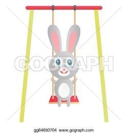 Swing clipart rabbit