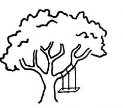 Tire Swing clipart tree drawing