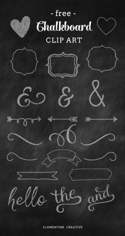 Typeface clipart chalkboard