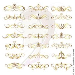 Curl clipart calligraphy