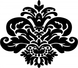 Damask clipart simple