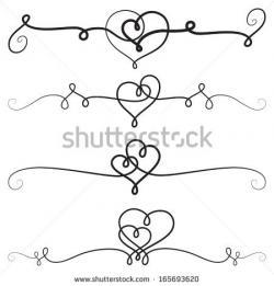 Classics clipart heart scroll