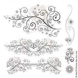 Curl clipart fancy