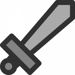 Metal clipart double edged sword