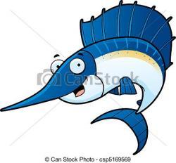 Swordfish clipart cartoon