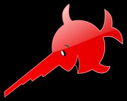 Swordfish clipart cute