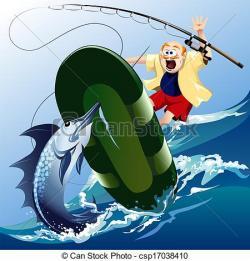 Swordfish clipart funny