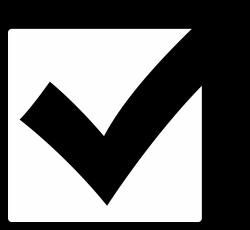 Muskox clipart checkmark