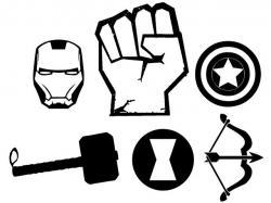 Drawn horseshoe avenger logo