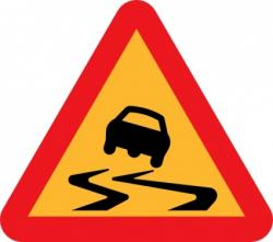 Triangle clipart traffic sign