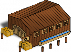 Warehouse clipart horse stable