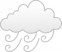 Symbol clipart windy day