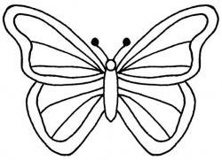 Papillon clipart cute butterfly outline